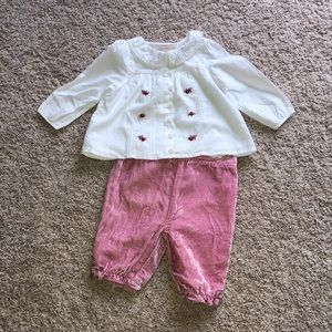 Janie and jack Baby Girl vintage style outfit